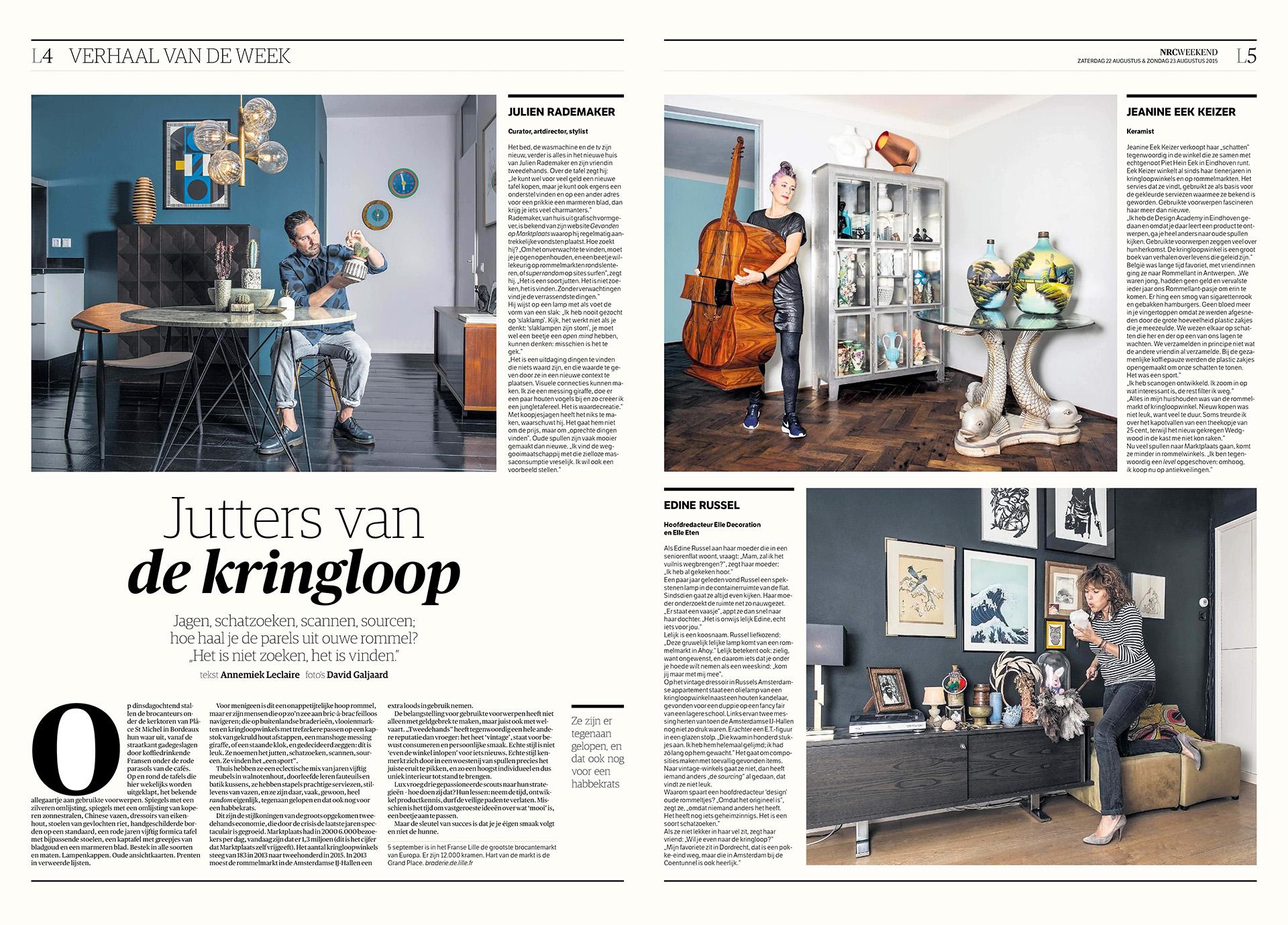 NRC Handelsblad - Kringloop jutters - 2015 - David Galjaard