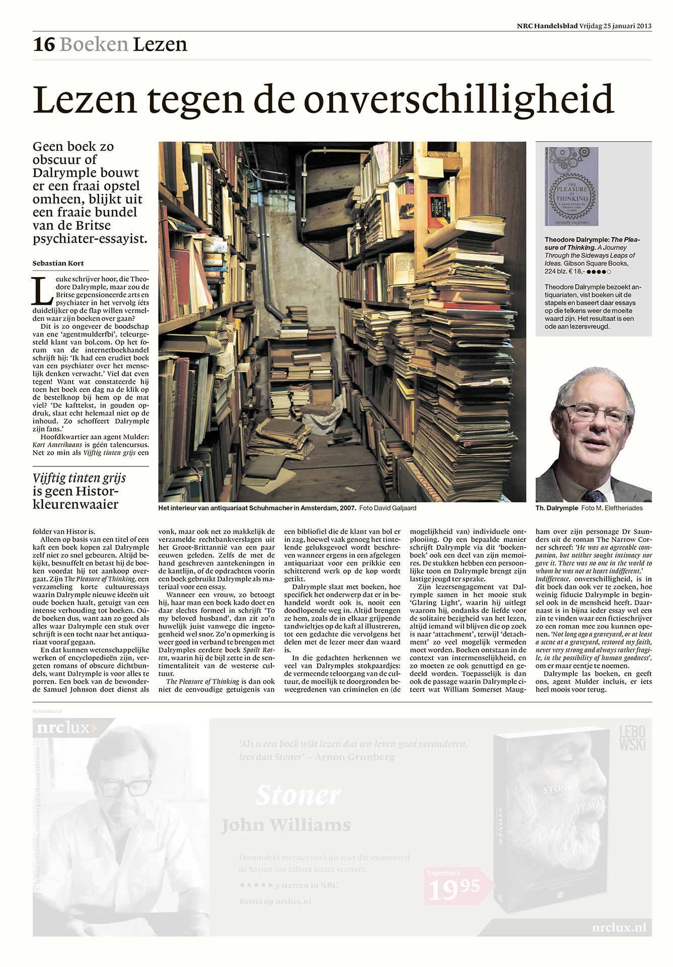 NRC Handelsblad - boeken - 2015 - David Galjaard