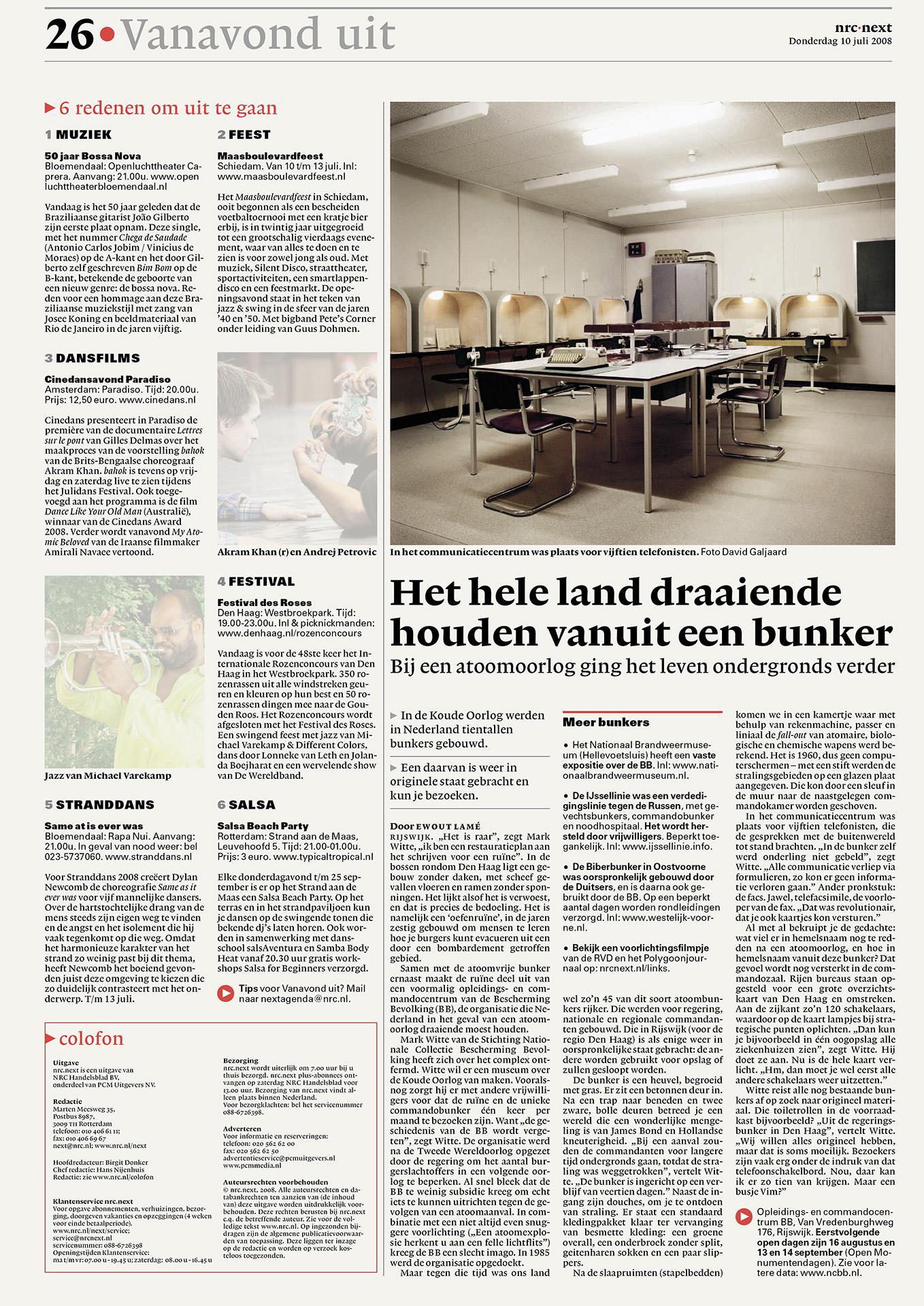 NRC Next - Bunker - Rijswijk - David Galjaard