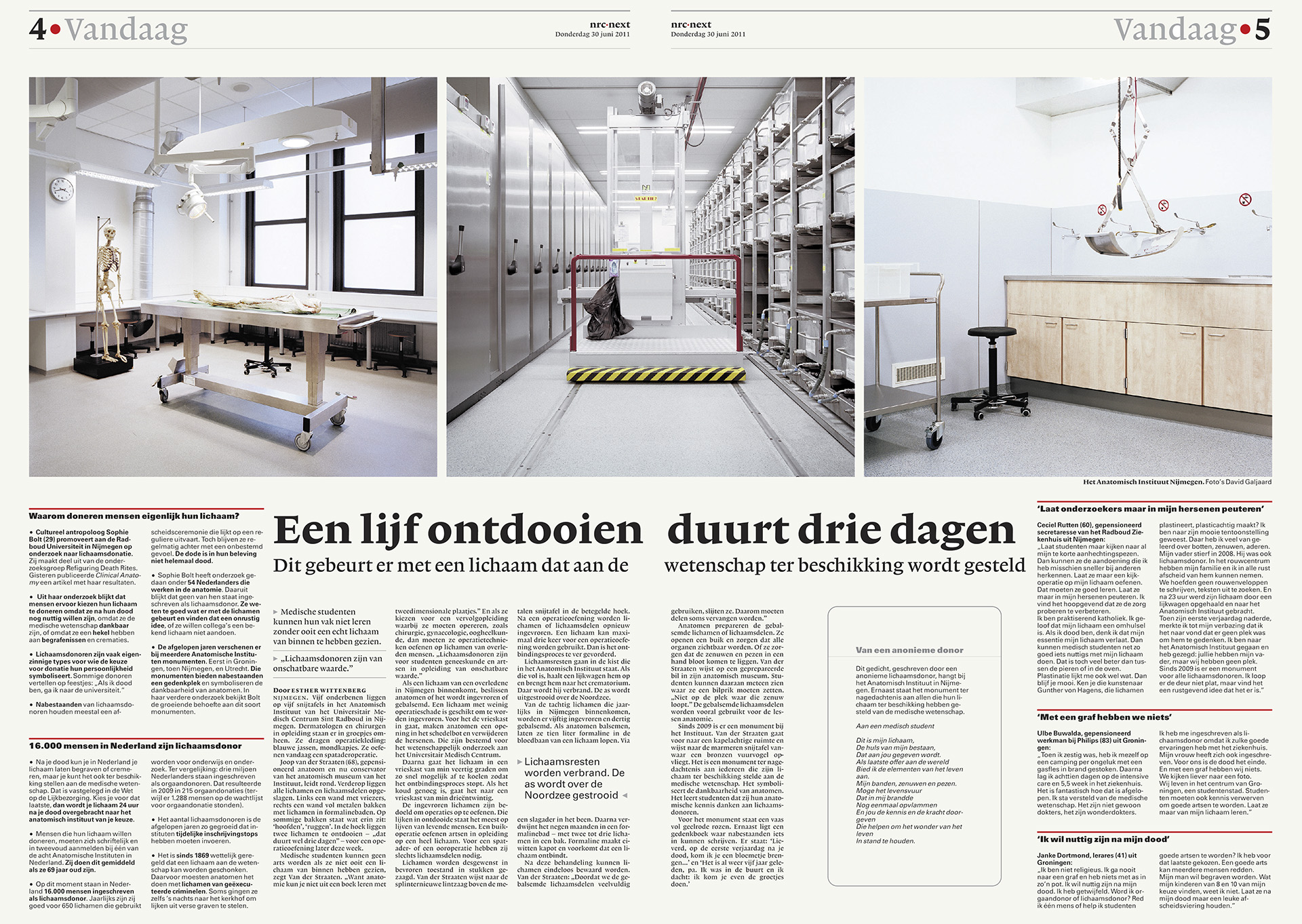 NRC Next - Spread lichaam Doneren - David Galjaard