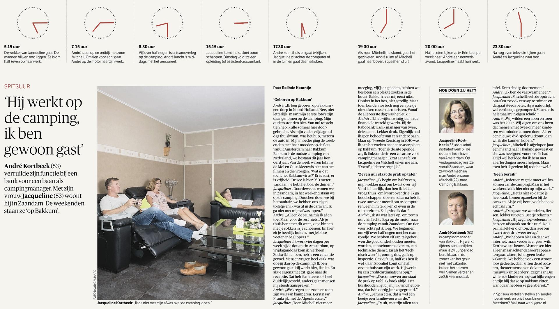 NRC Handelsblad - Economie - Spitsuur - 2014 - David Galjaard