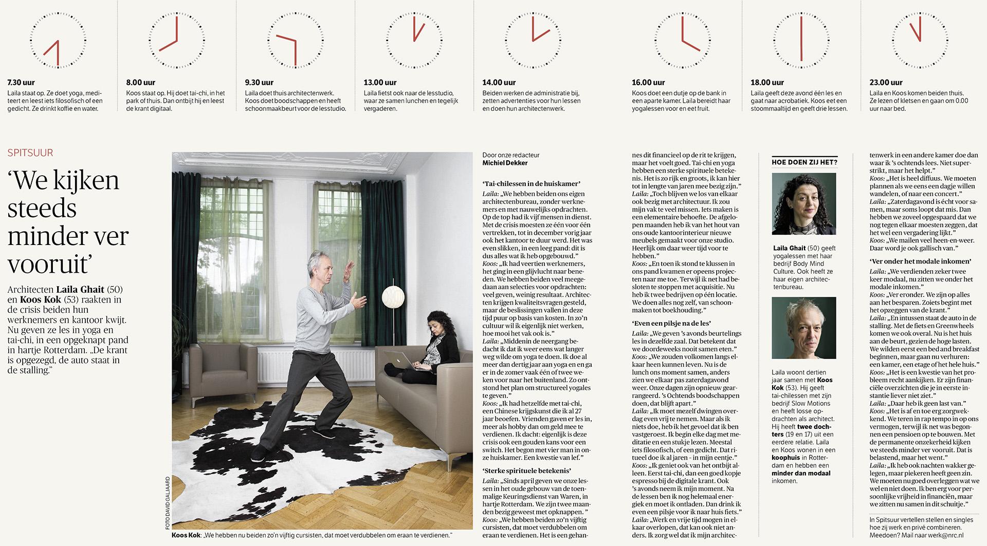 NRC Handelsblad - Economie - Spitsuur - 2013 - David Galjaard