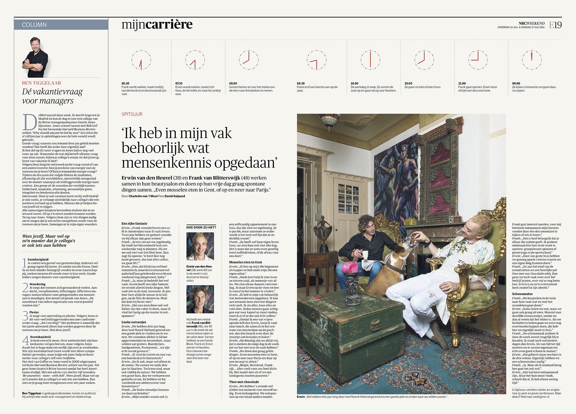 NRC Handelsblad - Economie - Spitsuur - 2016 - David Galjaard