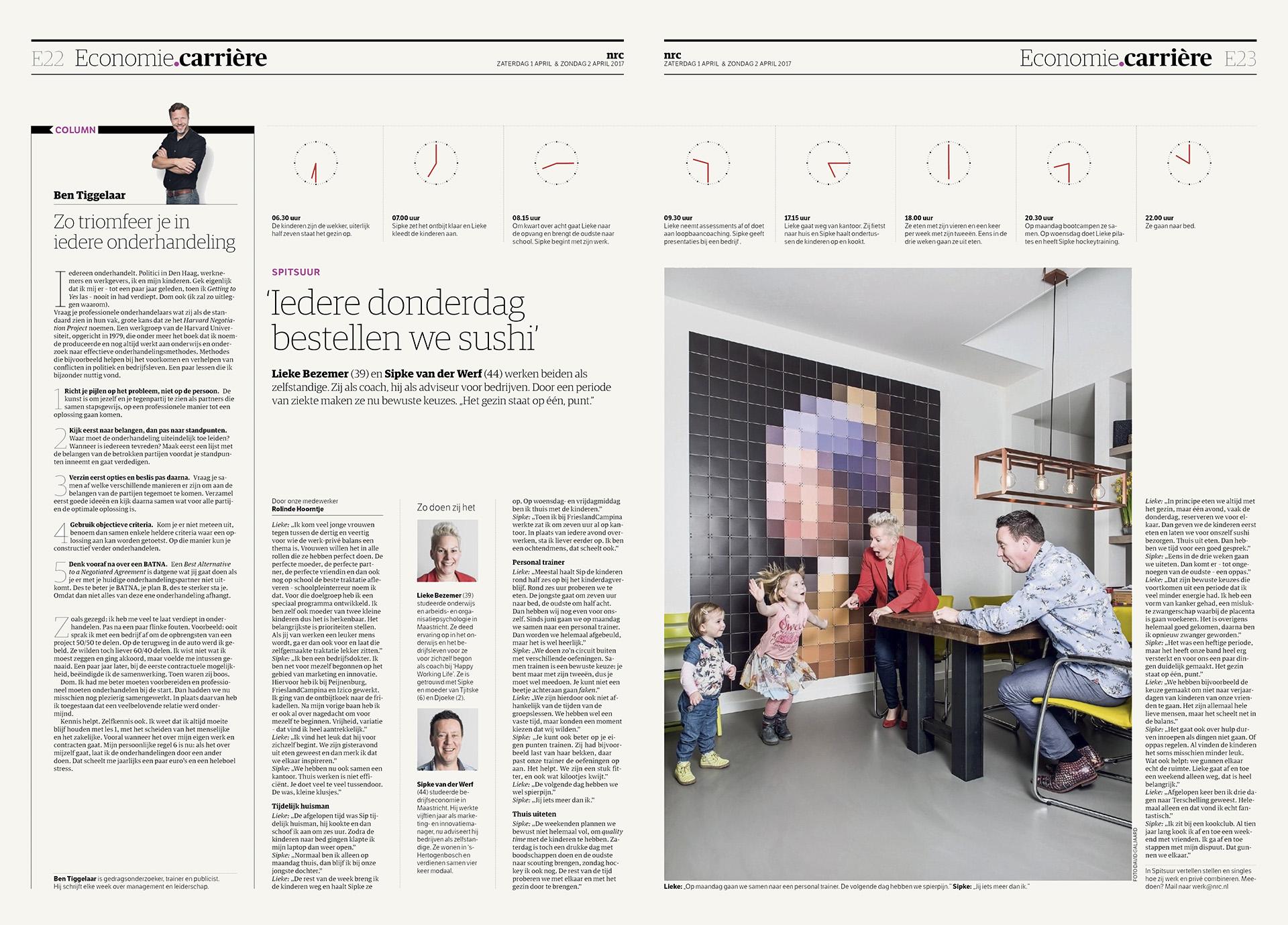 NRC Handelsblad - Economie - Spitsuur - 2017 - David Galjaard
